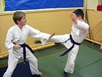 Students practising technique